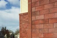 Novabrik's Mortarless Brick Siding Offers Overlapping Interlock System