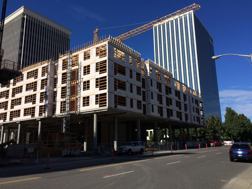 Concrete and wood-frame mixed-use project in Portland, Ore.