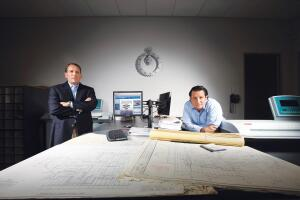 A decade ago, Peter Stevenson (left) and Nathaniel Olson were swimming in construction documents. They contained the flood and developed the Drawing Vault, a CD-management service for developers and property management companies.
