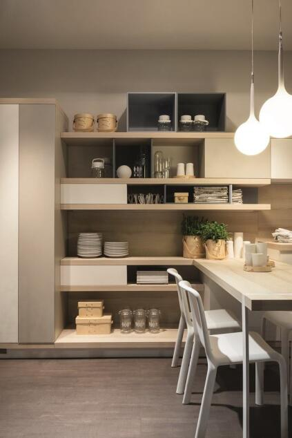 Ora-ïto's Foodshelf kitchen system.