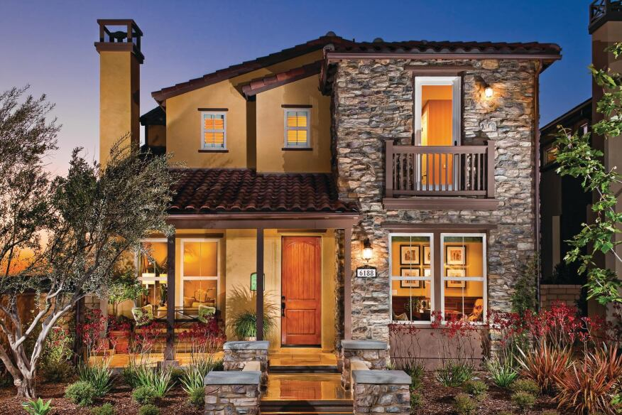 STREET SMART: Four plans ranging from 2,350 to 3,050 square feet offer a blend of front-loaded and alley-loaded elevation styles at Manzanita Trail.