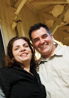 Margaret Price Sims, vice president, and husband Sean Sims, marketing administrator