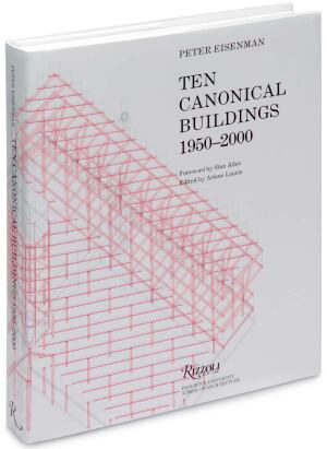 BOOK  Ten Canonical Buildings 1950-2000  By Peter Eisenman    During his lectures at Princeton, Eisenman zeroed in on 10 projects, including works by Le Corbusier, Aldo Rossi, and James Sterling. The overall selection is less interesting than the individual explanations. Eisenman cleanly dissects each project with a diagrammed analysis that leaves little room for argument.    Rizzoli, in association with Princeton University School of Architecture; $60
