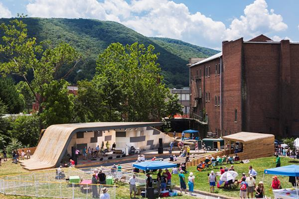 Masonic Amphitheatre, Clifton Forge, Va., by Virginia Tech's design/buildLAB