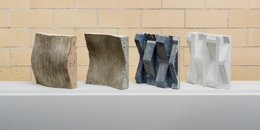 Precast concrete components.