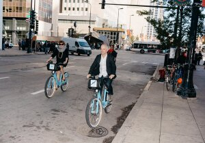 Bike sharing is just one of the disruptive travel modes Ford is studying.
