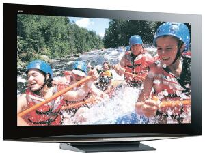 • Panasonic   • panasonic.com  1080p HDTV with 30,000:1 or 1,000,000:1 contrast ratios   • Progressive scan   • Four speakers   • Four HDMI, two composite-video, two S-Video, one PC, two component-video, and analog and digital audio inputs   • 15.2 inches deep