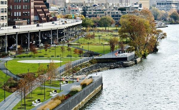 Georgetown Waterfront Park in Washington, D.C.