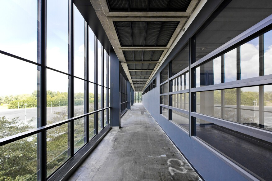 Bell Labs interior passageway