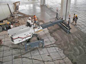 The Somero SXP-D Laser Screed can spread and screed 240 square feet of concrete to a precise elevation in a single pass.