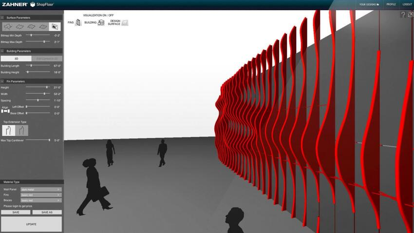 CloudWall, the first tool publicly available in ShopFloor, allows users to manipulate several design parameters.