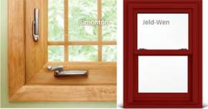 A CUT ABOVE: Simonton's new vinyl window, Decorum, flaunts a wood laminate interior and a range of hardware finishes to give the product a designer touch. Jeld-Wen added darker exterior colors to its EverTone line of vinyl windows, and the maker matched those offerings to its clad window lines, allowing homeowners to mix and match between different window materials.