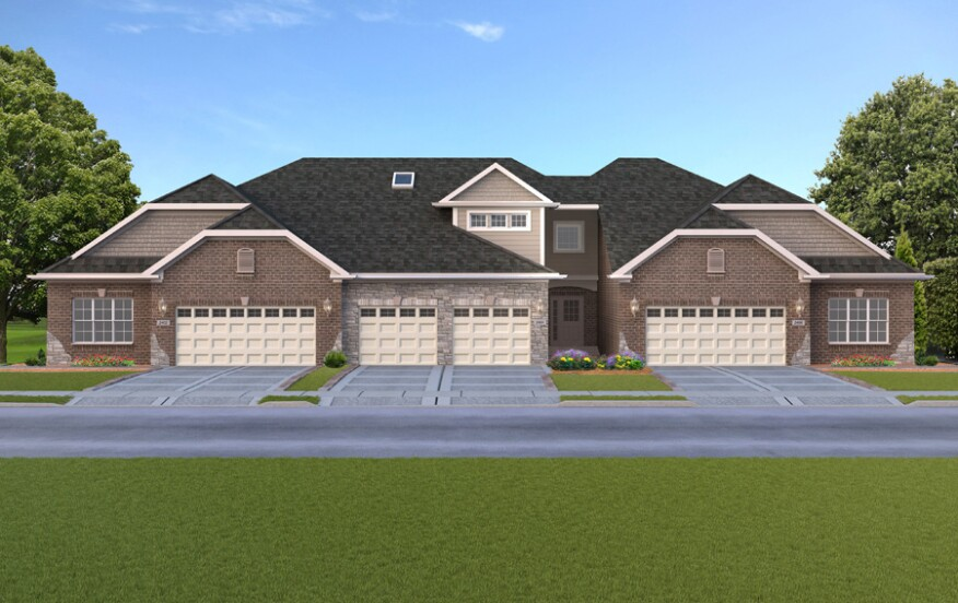 Triplex townhome rendering