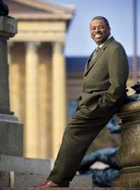 Carl Greene, shown in front of the Philadelphia Museum of Art, has transformed the city's once-troubled housing authority into a thriving agency.