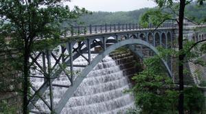 Infrastructure, such as the New Croton Dam, part of New York City's water supply system, will benefit from stimulus funds.