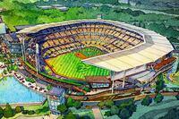 Early Renderings of the Atlanta Braves New Stadium