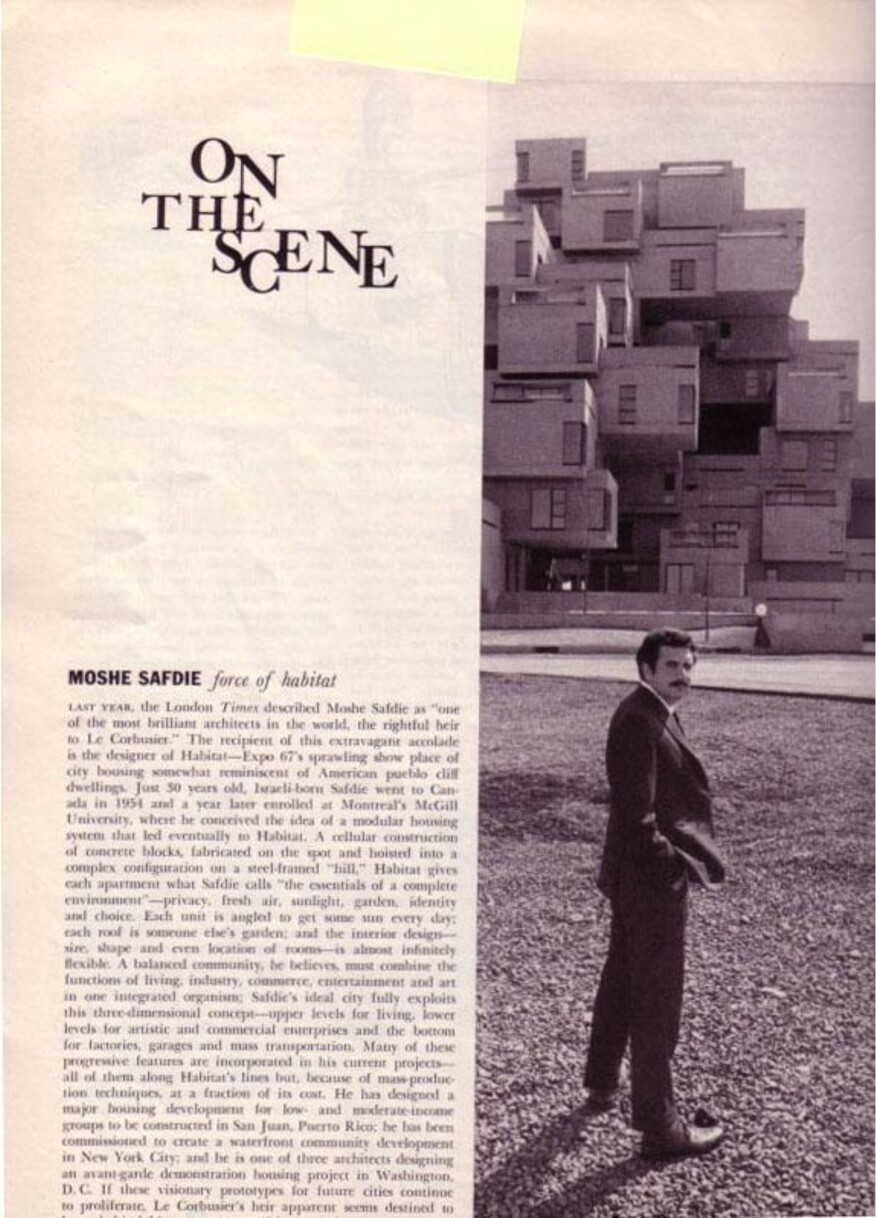 A profile of Moshe Safdie and his Habitat '67 project in a 1968 issue of the magazine