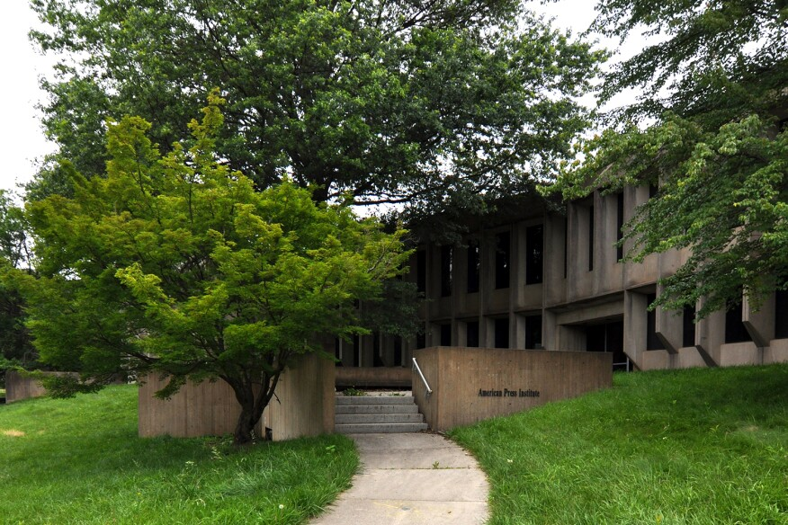 East side of Marcel Breuer's American Press Institute, Reston, Va.