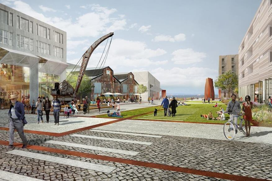 Rendering of proposed Pier 70 project.