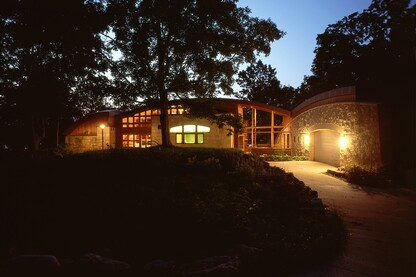 Long Lake Point, a secluded contemporary lakeshore home 15 minutes west of Minneapolis