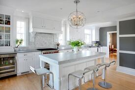 Connected, Open Kitchen Design in a Dutch Colonial Style