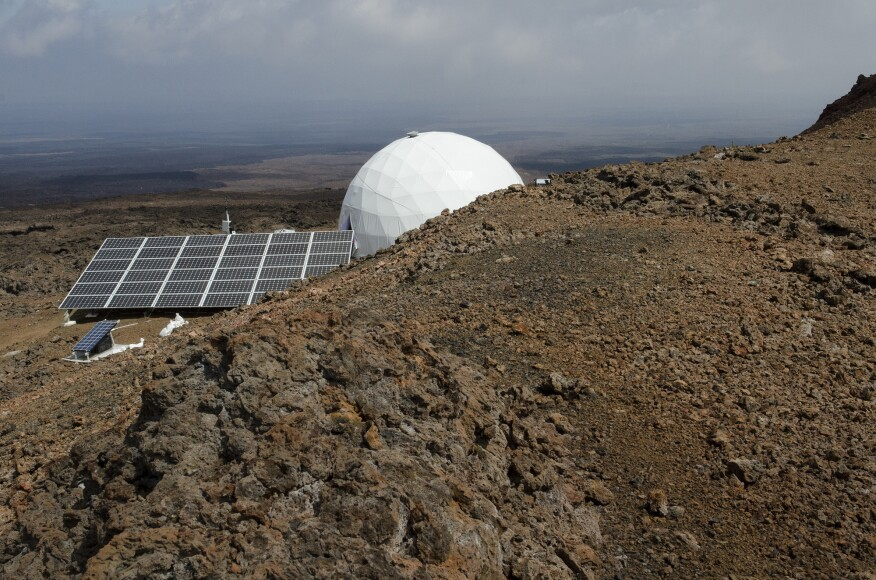 The HI-SEAS habitat was powered by a 10-kilowatt solar array.