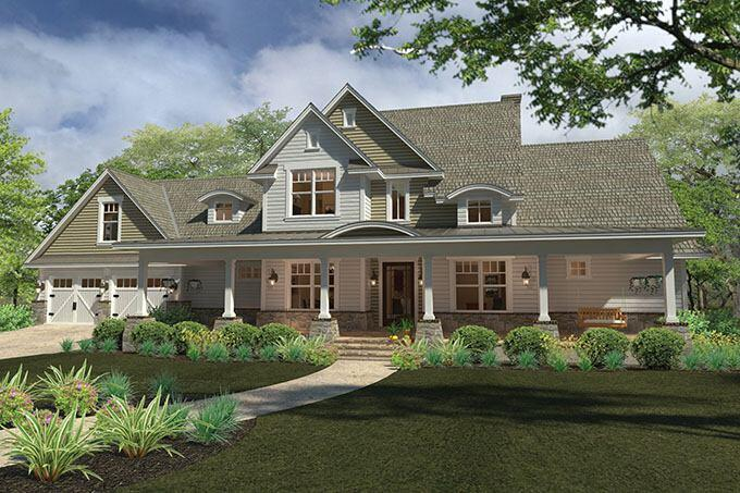 Fourplans outstanding new homes under 2 500 sq ft for Large farmhouse house plans