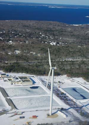 WHY IT'S COOL: Although 19 community-scale wind turbines operate in Massachusetts, Falmouth's is the first that's municipally owned and maintained. Photo: United States Air Force