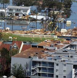 Hurricane Katrina's destruction in New Orleans has had a national impact on insurance premiums.