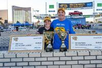 Mason Jerry Goodman and his daughter win the top two awards at 2014 SPEC MIX BRICKLAYER 500 National Bricklaying Championship