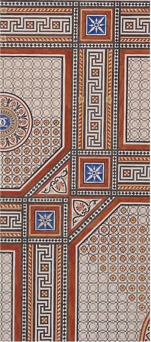 OBJECTDesign for a Tile Floor  John Gregory Crace    Circa 1850s    $4,000    The Crace family made a name for itself during the height of the British empire by designing ornate interiors throughout London, including in Windsor Castle and the Houses of Parliament. This tempura-and-ink rendering for floor tiles in the entry of the Conservative Club shows one quarter of a design, which could be rotated 90 degrees for each adjacent quadrant of the square room. It and other 19th century design objects are on display through Aug. 30 at the ArchiTech Gallery of Architectural Art in Chicago.  architechgallery.com
