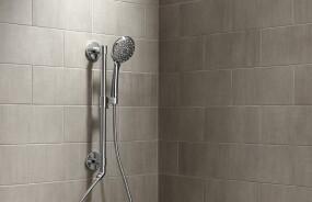HydroRail® Shower Columns with Awaken® Showerheads and Handshowers