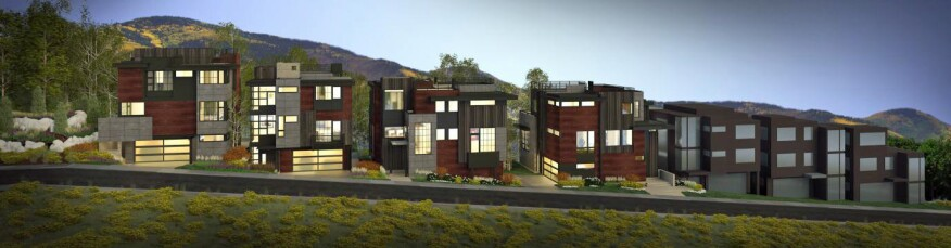 The new Park City development will have expansive views of Old Town, Park City Mountain Resort, and Deer Valley.