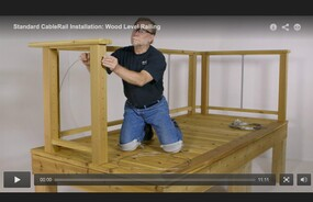 CableRail Assemblies Installation Video - Level Wood Railing