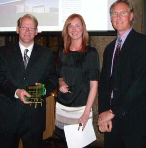 John Reister, Christina Koch, and Award Winner, Jonah Busick