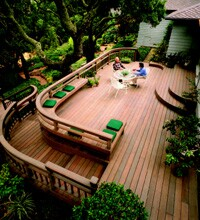 A deck designed by Gary Marsh, owner of All Decked Out.