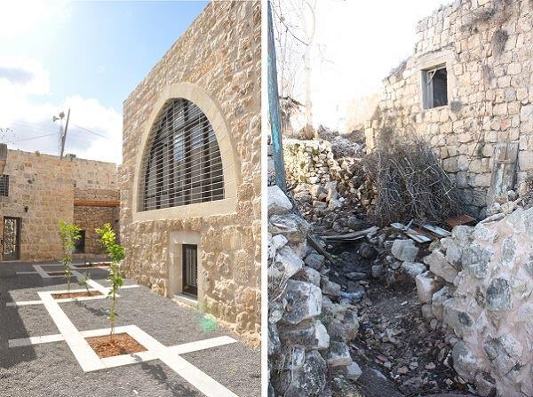 Birzeit historic center revitalization, by Riwaq. Birzeit University guest house after renovation. Birzeit, Palestine.