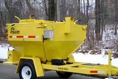 Trailer-mounted asphalt recycler, hauler from Falcon