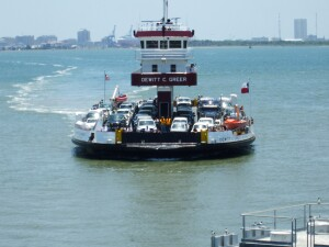 The Texas DOT owns six ferries. At least one operates 24 hours a day with multiple ferries running to and from Galveston Island and mainland Texas during peak hours. The agency took possession of the 500-passenger Ray Stoker Jr. in 1996. Built by Moss Point Marine, it's almost 253 feet long.