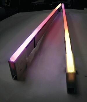 "The Hypnotica linear LED fixture from iLight Technologies uses RGB technology for a full spectrum of color possibilities (its color range is 16.7 million), and can be used in situations such as interior or exterior accent lighting, display lighting, and cove lighting. Offered in 1', 2', 4', and 8' lengths, it has an anodized aluminum housing with a UV- and impact-resistant acrylic diffuser. Controllable in 6"" increments, it has Remote Device Management capability for bidirectional communication between fixtures, and is DMX 512 compatible for dynamic color controlsequential color changing, color fading, multicolor blending, and dramatic color movement. The system includes power supply, clips, and wire. ilight-tech.com"