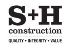 S+H Construction Logo