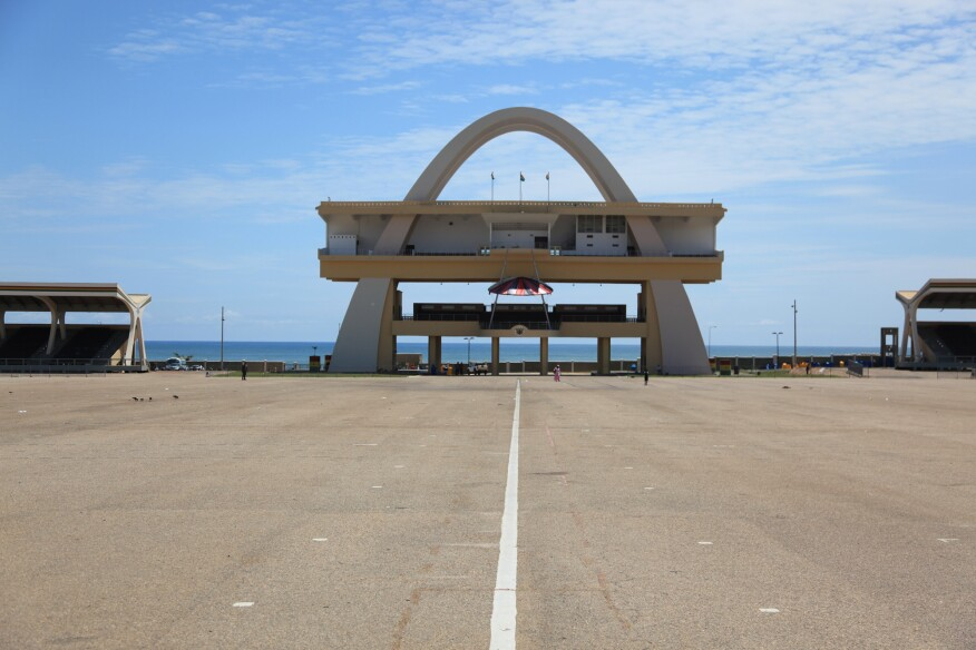Independence Arch (1961) in Accra, Ghana, by Public Works Departments