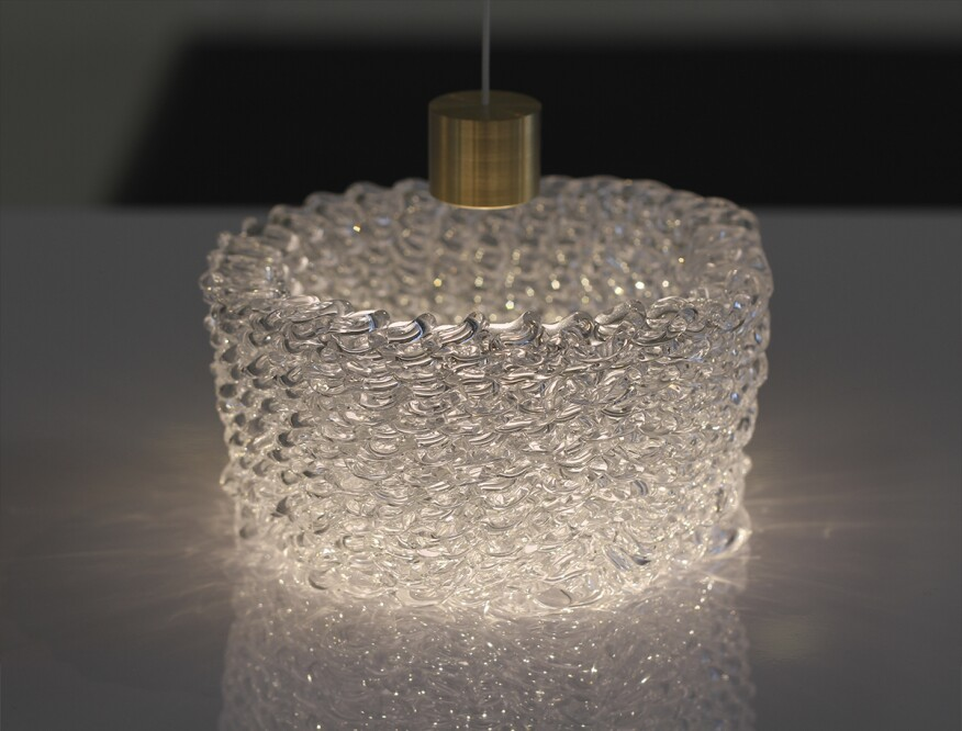 Falling Fluid glass printed object (shown in the video above)