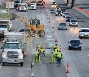 Concrete pavement restoration allows lanes to remain open while repairs take place.
