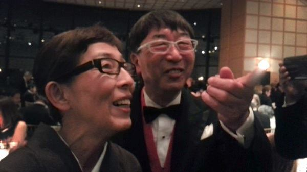 Kazuyo Sejima—the 2010 Pritzker Prize co-winner, at left—with 2013 Pritzker laureate Toyo Ito, who is her former employer.