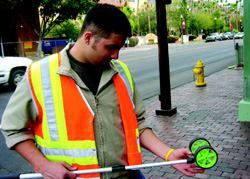 Josh Castilleja, an intern with Tempe, Ariz.'s traffic engineering division, learns  the basics on the job. Photo: City  of Tempe.