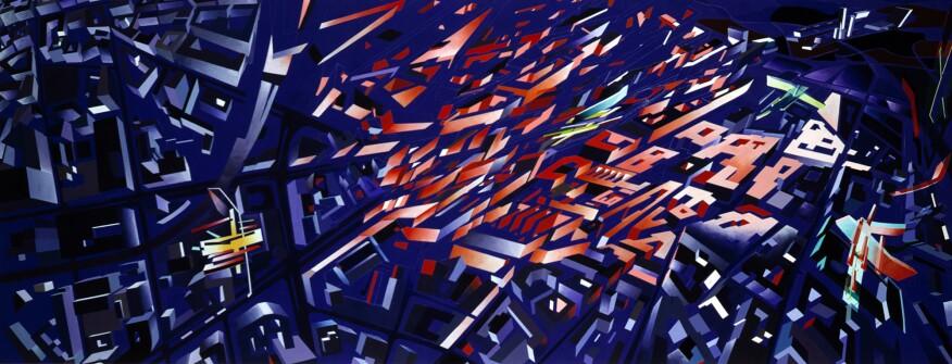 """Hadid's """"Victoria City Aerial Berlin"""" (1988)"""