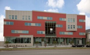 The Rosa F. Keller Building in the Mid-City neighborhood includes 30 units for low-income households and 30 units for chronically homeless individuals.