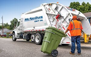 McNeilus began producing its first rear-loading refuse vehicle in 1991. Since then, the product lineup has grown with innovations in front-loading and automated side-loading refuse trucks, along with several models of rear-loading vehicles. Today, McNeilus also has 28 branch locations across North America.