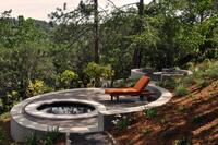 Hillside Spa Pops With Strong Geometric Design